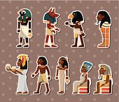 Collection of Pharaoh stickers on beige
