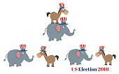 Collection of Political Elephant and Donkey - 5