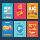 Collection of Sale and Discount Offers Flyers