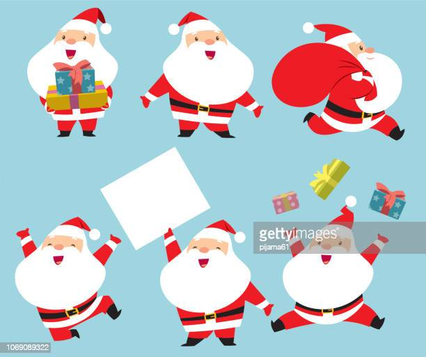 collection of santa claus - santa claus stock illustrations
