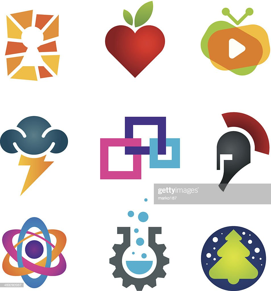 Collection of science innovation warrior symbol design