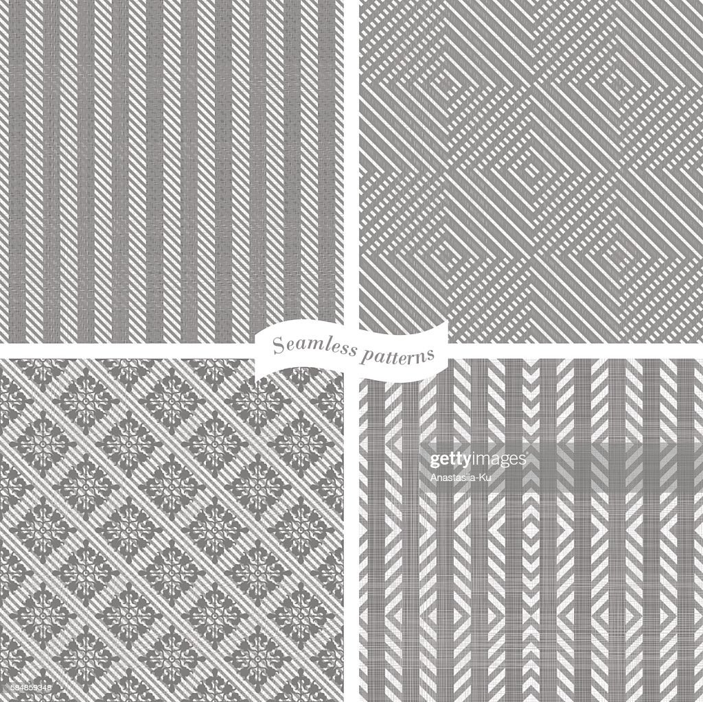 collection of seamless tweed pattern