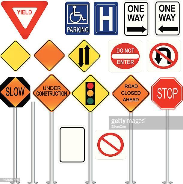 illustrations, cliparts, dessins animés et icônes de panneaux de signalisation - panneau sens interdit