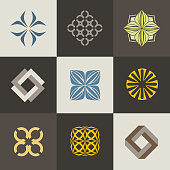 A collection of signs icons for interior, furniture shops, companies make furniture, decor items and home decoration. Set 1