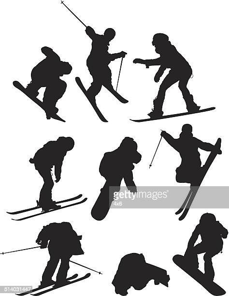 collection of snowboard vector - motorcycle helmet isolated stock illustrations, clip art, cartoons, & icons
