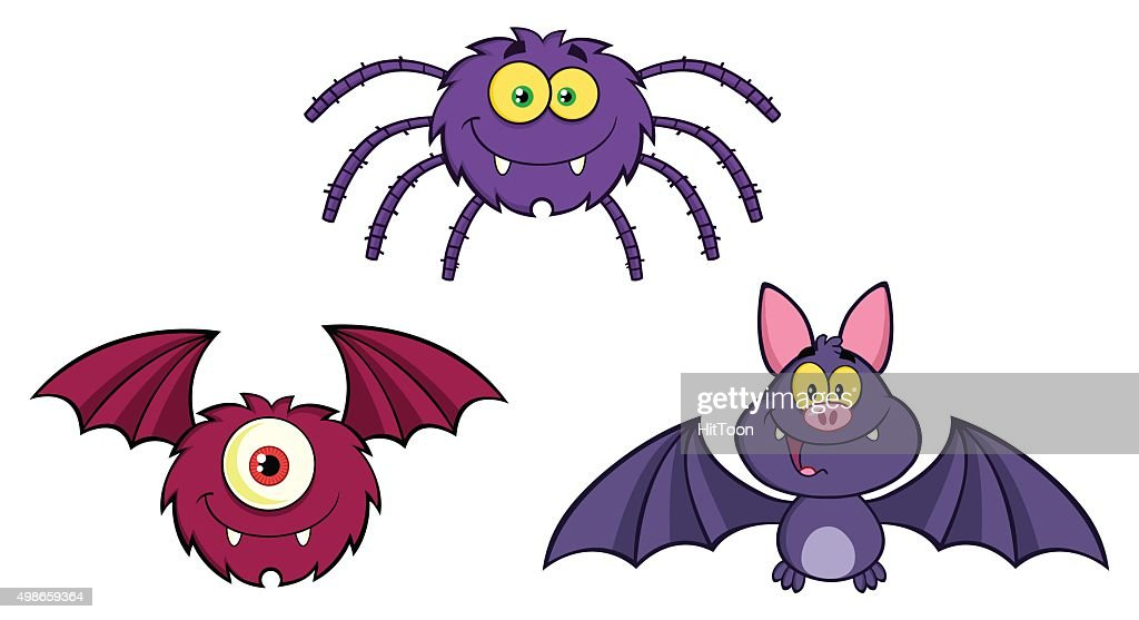 Collection Of Spider Bat One Eyed Monster High-Res Vector Graphic - Getty  Images