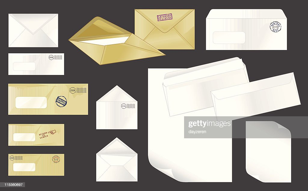 Collection of stamped envelopes