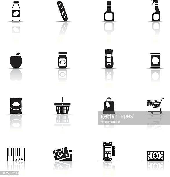 Collection of supermarket icons