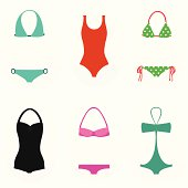 Collection of swimsuits for women