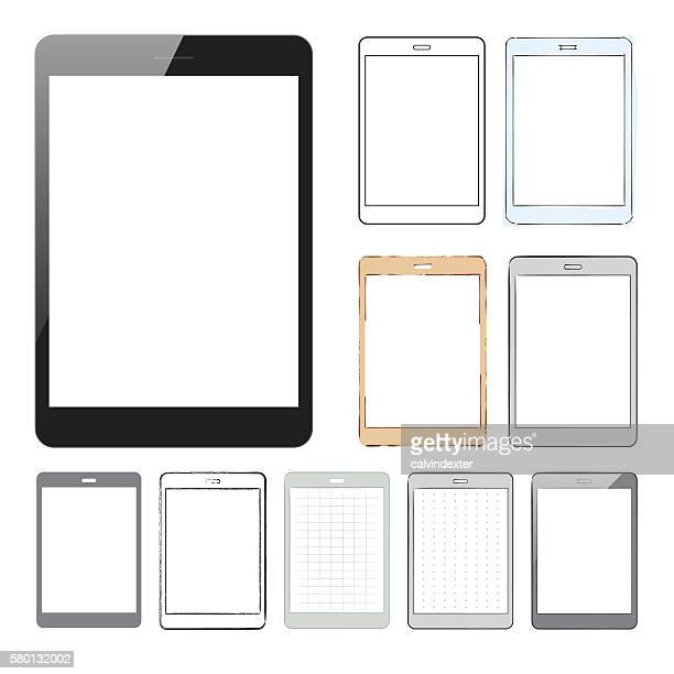 Collection of tablet pc designs and mockups