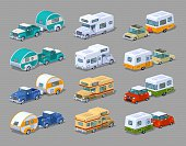 Collection of the motorhomes