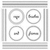 Collection of thick and thin brushes to design frames, borders. The brush included in the file