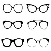 Collection of various glasses. To be worn by women, men