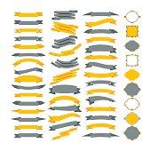 Collection of vector design elements. Big set of frames