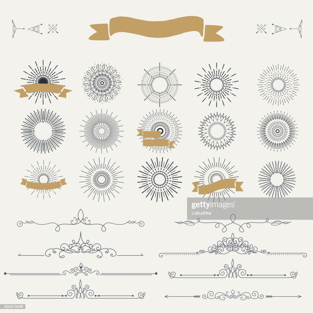 Collection of vector vintage patterns