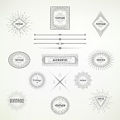 Collection of vintage abstract decoative elements for your design.