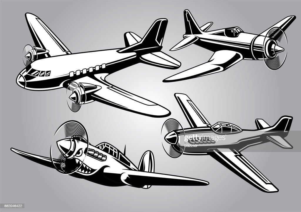 collection of world war 2 military aircraft