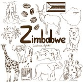 Collection of Zimbabwe icons