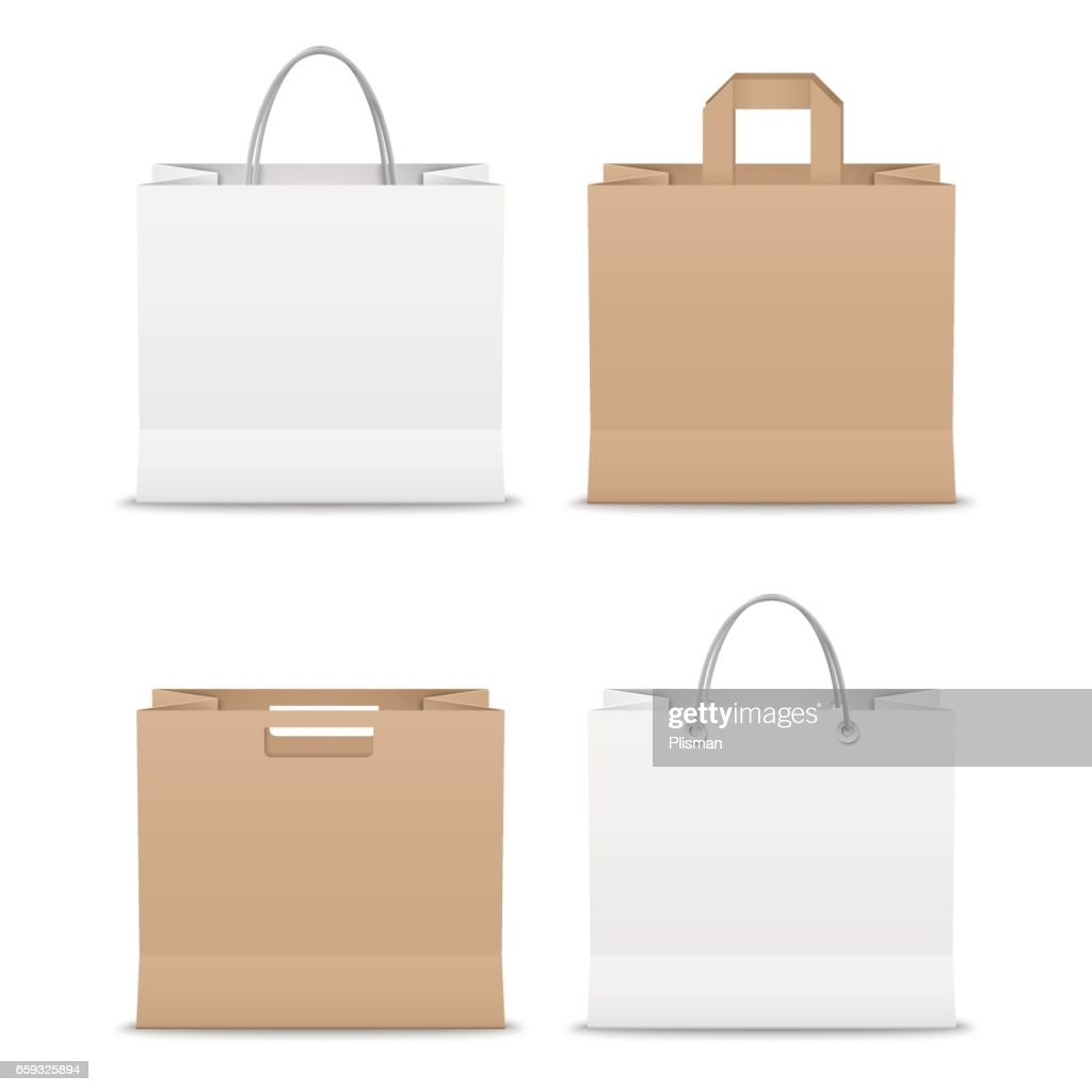 Collection paper shopping bags template