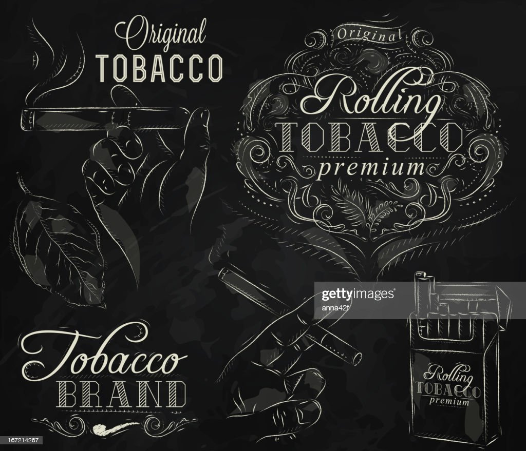 Collection tobacco chalk