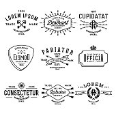collection vintage labels