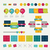 Collections of infographics flat design diagrams.