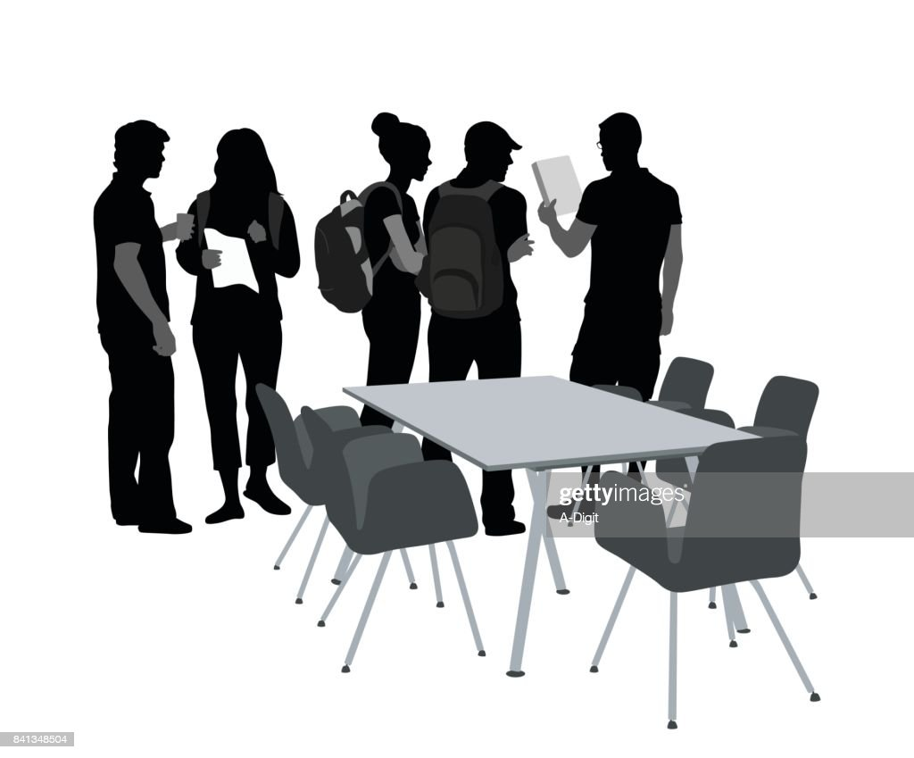 College homework teamwork : stock illustration