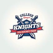College league sport team logo apparel concept