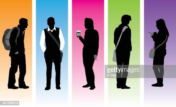 college-persönlichkeiten - buntes hemd stock-grafiken, -clipart, -cartoons und -symbole