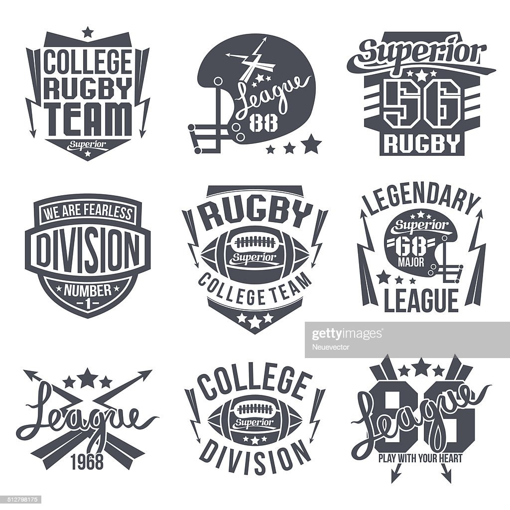 College rugby team emblem