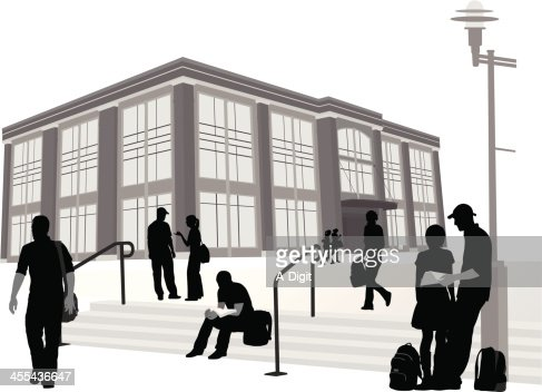 College Steps Vector Silhouette Vector Art | Getty Images