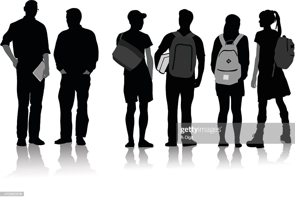 College Students : stock illustration
