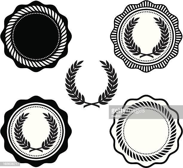 collegiate seals - rope stock illustrations