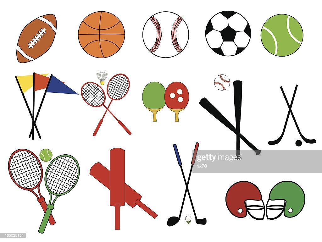 Collegiate Sports Icons ( Vector )
