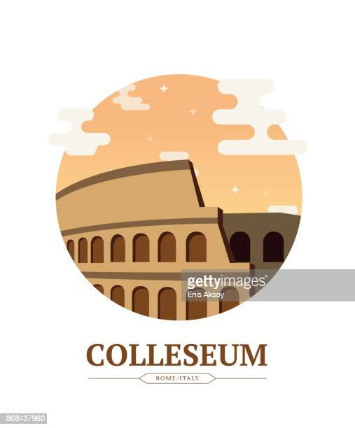 colleseum - rome italy stock illustrations, clip art, cartoons, & icons