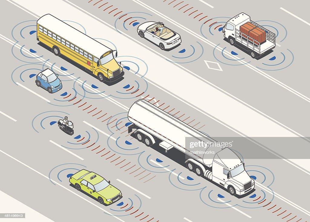 Collision Detection Radar Illustration : stock illustration