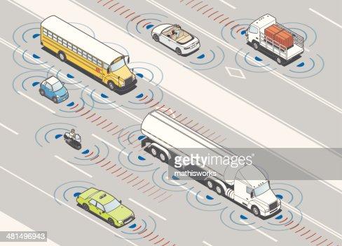 Collision Detection Radar Illustration