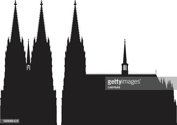 cologne cathedral - cologne stock illustrations