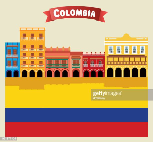 colombia, cartagena - architectural feature stock illustrations, clip art, cartoons, & icons