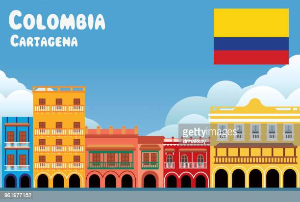 colombia, cartagena - colombia stock illustrations