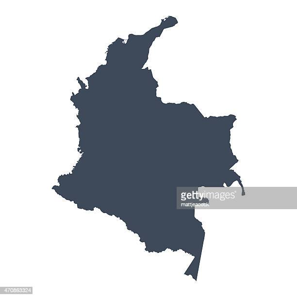 colombia country map - colombia stock illustrations