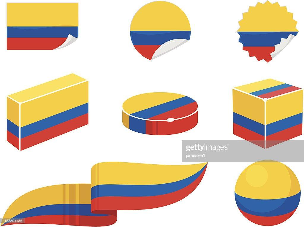 Colombia Design Elements
