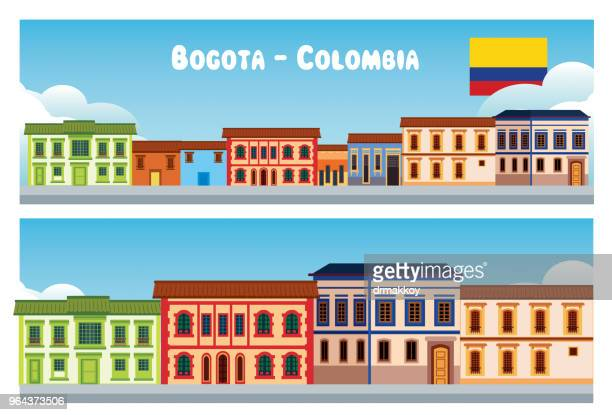 colombia historic houses - colombia stock illustrations