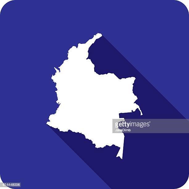 Colombia Icon Silhouette