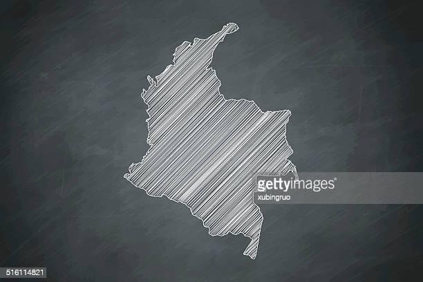 colombia Map on Blackboard