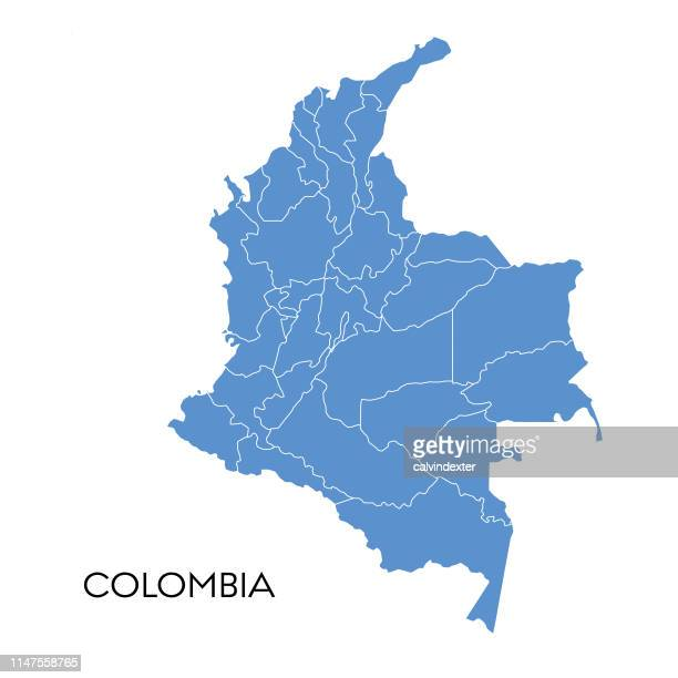 colombia map - colombia stock illustrations