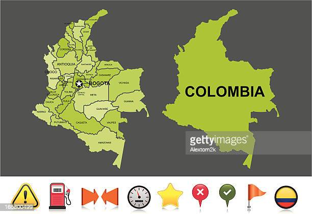 Colombia navigation map