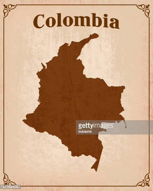 Colombia on royalty free vector Background