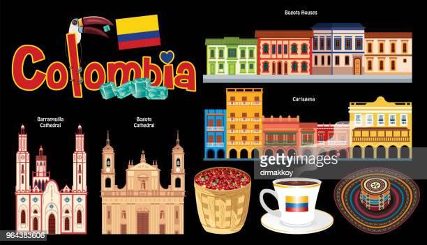 ilustrações, clipart, desenhos animados e ícones de símbolos da colômbia - sombreiro