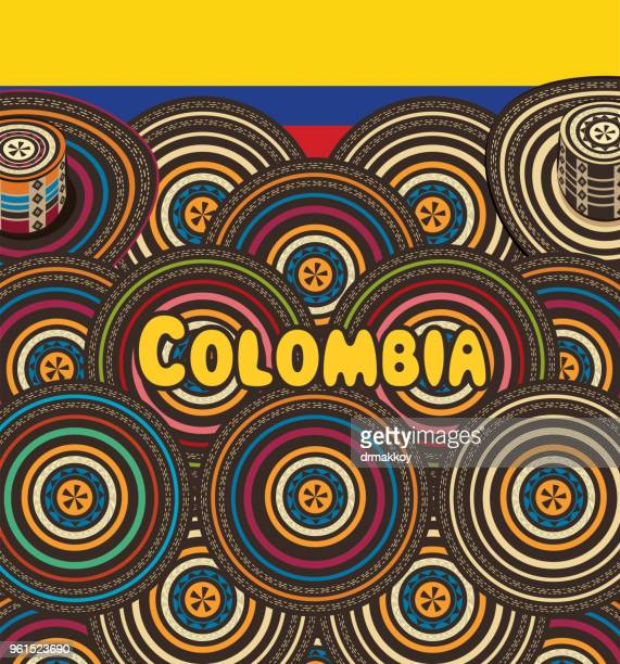 colombia sombrero vueltiao - colombia stock illustrations